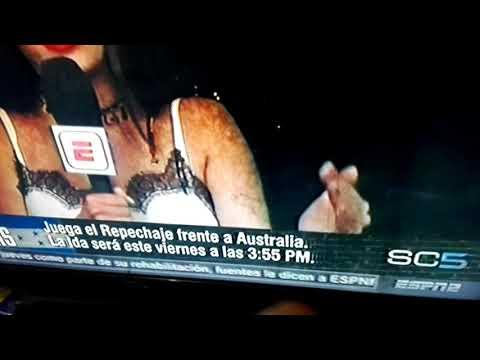 Penoso momento de Carolina Padron ESPN