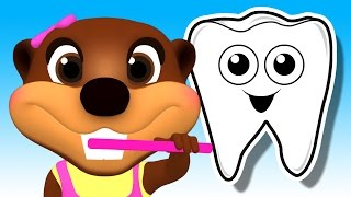 Tooth Brush Color Game | Brush Your Teeth Song | Learn Colours & Good Habits with Busy Beavers(What Color is the Tooth Brush? Busy Beavers Teach Children Colors & Good Hygiene Habits with their