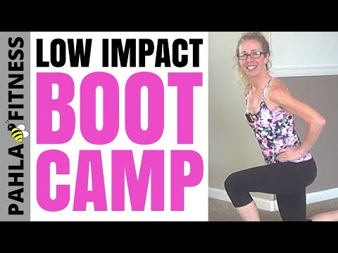 * BOOT CAMP without Jumping | LOW IMPACT CARDIO Workout for Fast Fat Loss