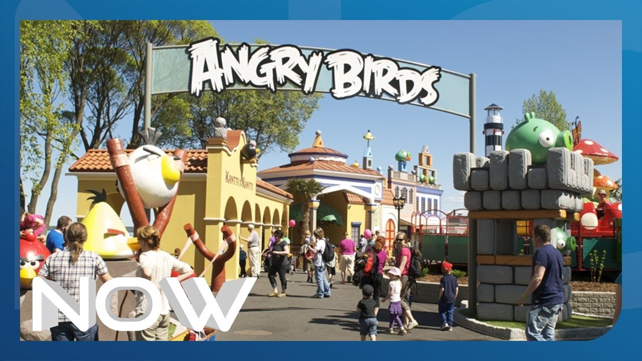 angry birds theme park now youtube. Black Bedroom Furniture Sets. Home Design Ideas
