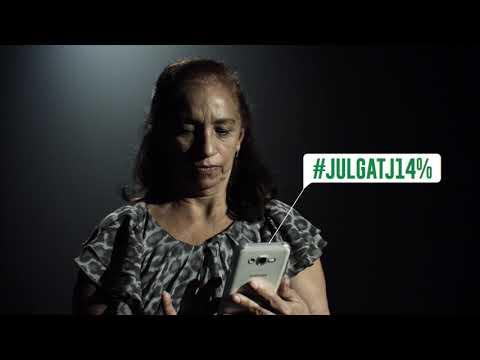 Campanha do Sinteal contra desconto de 14% #JulgaTJ14%
