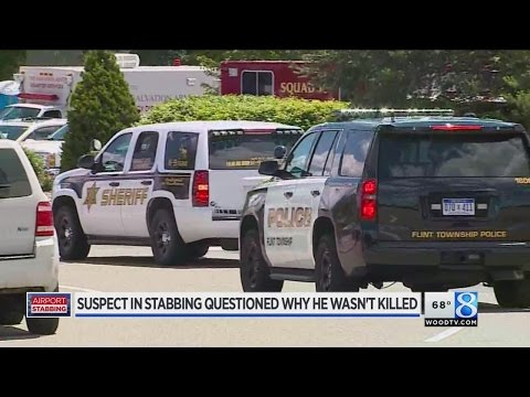 Flint airport stabbing investigated as act of terror