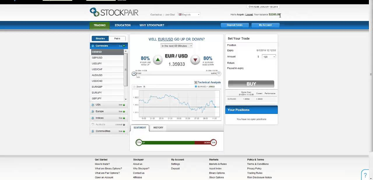 Stockpair Review: The Basic. Stockpair as its name are specialized in stock options pair trading, where you evaluate the relative strength of certain stocks and measure which one is strongest, which one is the weakest to take action and from that you make decision to call and put for that stock pair respectively/5().