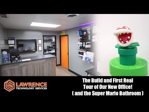 The Build and First Real Tour of Our New Office! (And the Super Mario Bathroom)