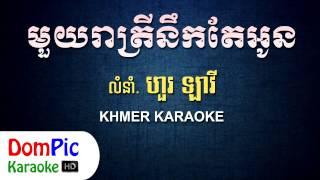 មួយរាត្រីនឹកតែអូន ហួរ ឡាវី ភ្លេងសុទ្ធ - Mouy Reatrey Nek Te Oun Hour Lavy - DomPic Karaoke
