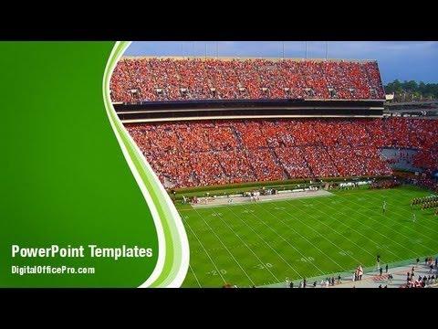 Football Stadium PowerPoint Template Backgrounds - DigitalOfficePro - football powerpoint template