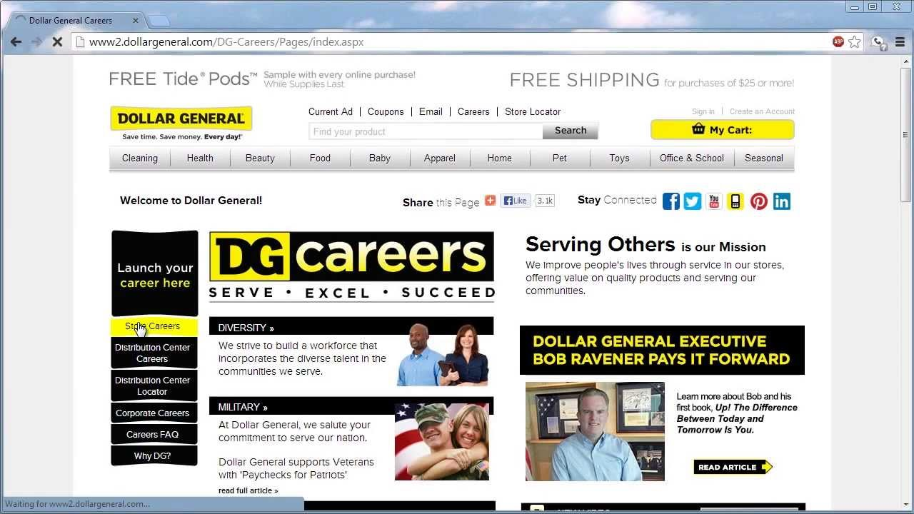 Dollar General Application Online Video - YouTube