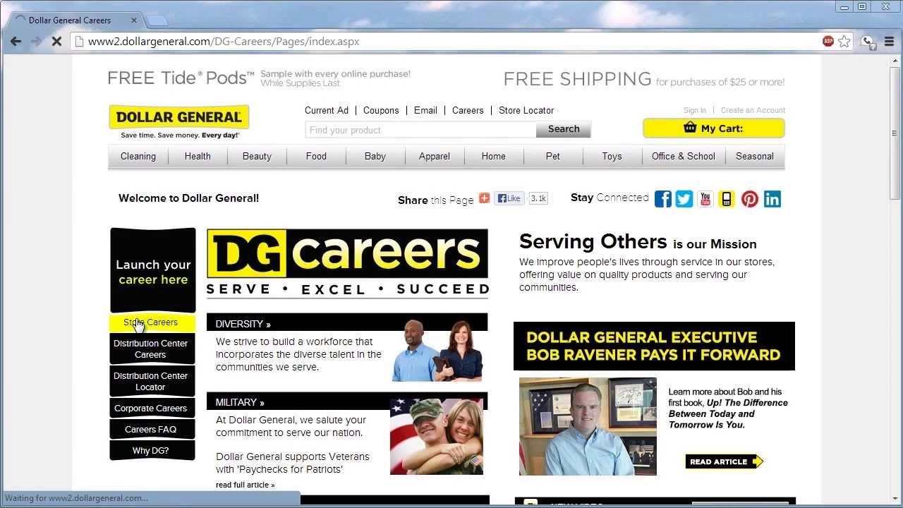 Dollar general application online video youtube falaconquin
