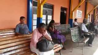 Waiting for the train in Gampaha, Sri Lanka
