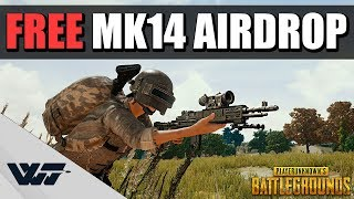 GOT A FREE MK14 AIRDROP - And put it to good use -PUBG
