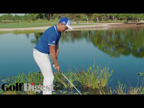 Rickie Fowler Teaches How To Skip A Ball On Water | Superhuman | Golf Digest