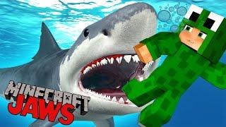 Minecraft JAWS SURVIVE THE SHARK ATTACK Custom Mod Adventure