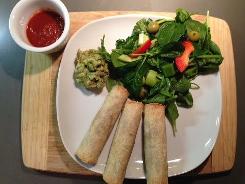 Black Bean Green spinach Baked Taquitos
