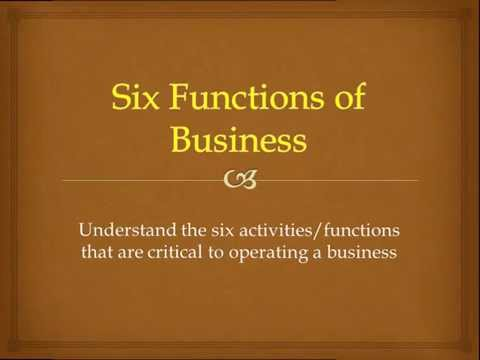 Lesson Two   Six Functions Of Business