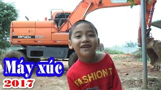 vuclip Dương khám phá máy xúc doosan 140w, Excavator, Kênh Em Bé ♥