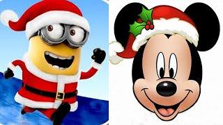 Despicable Me Minion Rush vs Christmas Mickey Mouse