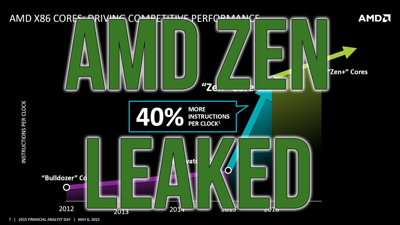 AMD Zen CPU Leaked Information