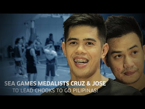 SEA Games Medalists Cruz and Jose to Lead Chooks To Go Pilipinas!