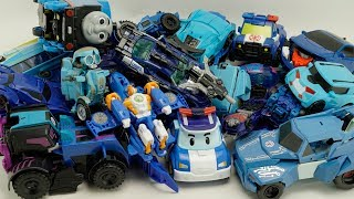 Tobot Blue Car Transformers Prime Thunderhoof, Sqweeks, Thomas train robot color truck toys for kids