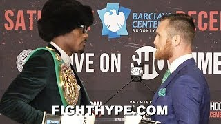 JERMALL CHARLO TAUNTS DENNIS HOGAN & STARES HIM DOWN DURING FACE OFF