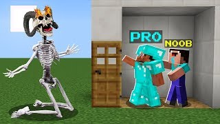 NOOB PLAYING HIDE AND SEEK VS SCARY SKELETON! BATTLE NOOB vs PRO! Challenge in Minecraft Animation!