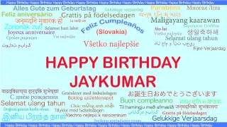 JayKumar   Languages Idiomas - Happy Birthday