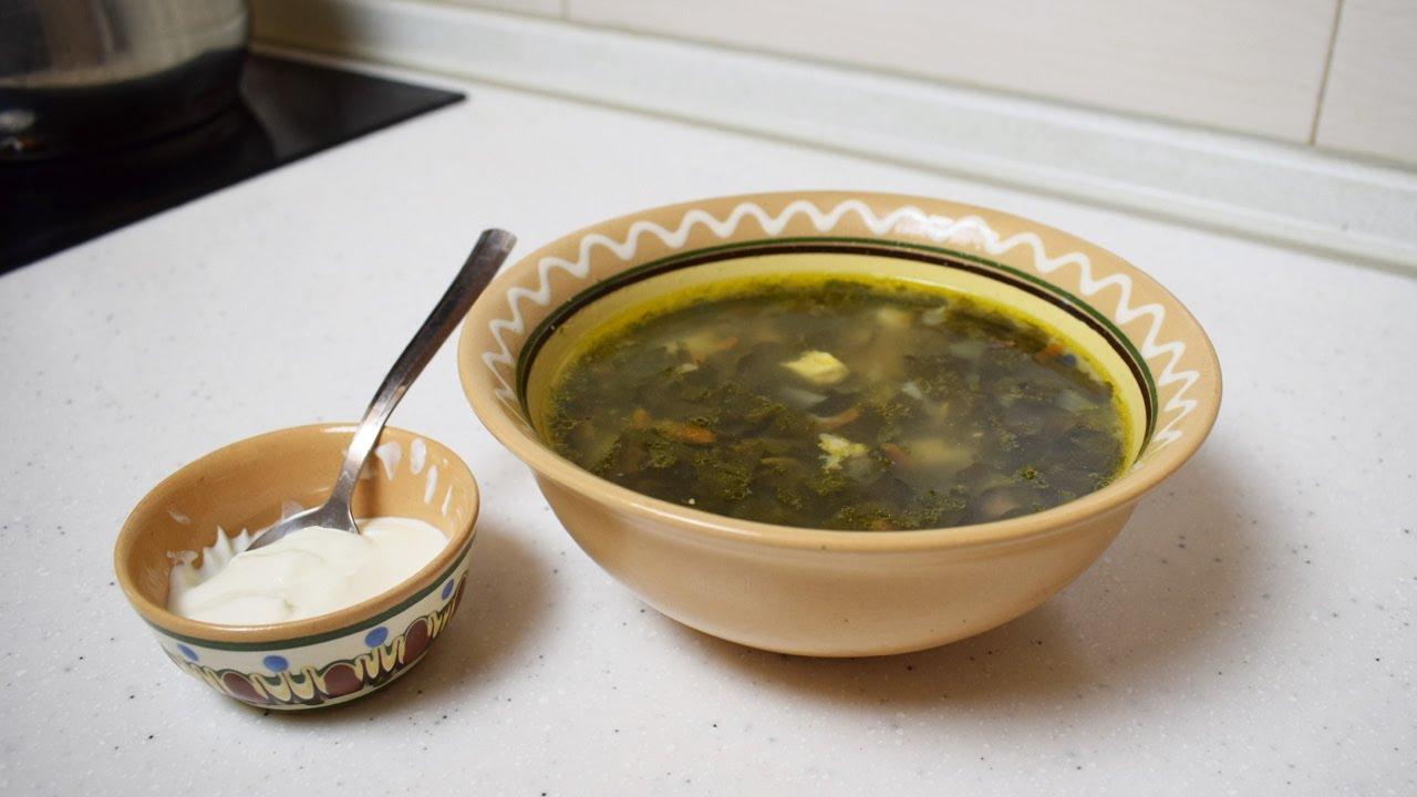 Суп со щавелем и яйцом / Зеленый борщ из щавеля - YouTube
