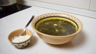 Суп со щавелем и яйцом / Зеленый борщ из щавеля