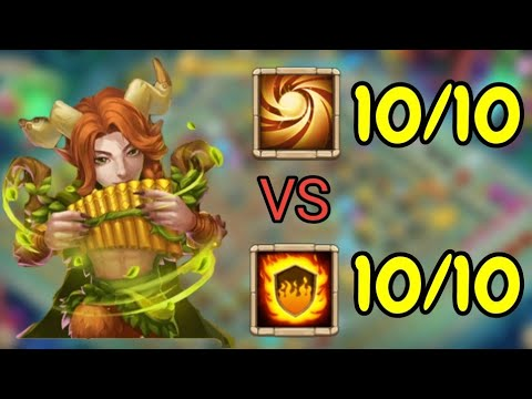 Rambard L 10/10 Sacred Light VS 10/10 Flame Guard L Castle Clash
