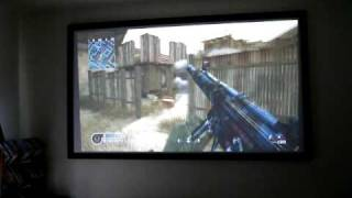 Call of Duty 4 Played on 106in Screen