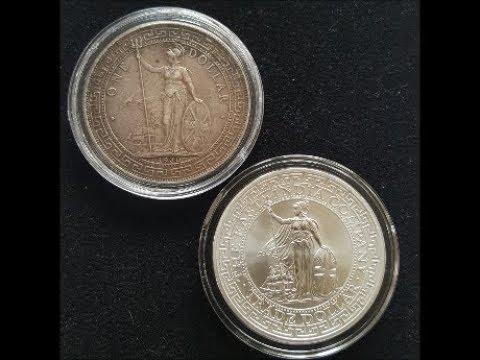 2018 St Helena Silver Trade Dollar Restrike