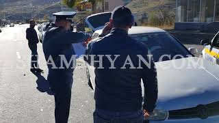 Վանաձորում բախվել են 39 ամյա վարորդի Volkswagen Golf ը և 66 ամյա վարորդի Renault Logan ը