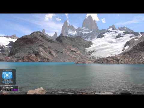 "PATAGONIA 4K Scene w  Calming Music: ""Turquoise Mountain Lake"" 1 HR Nature Video Screensaver"