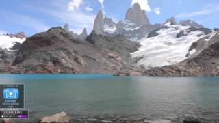 "PATAGONIA 4K Scene w  Calming Music: ""Turquoise Mountain Lake"" 1 HR Nature Video Screensaver"