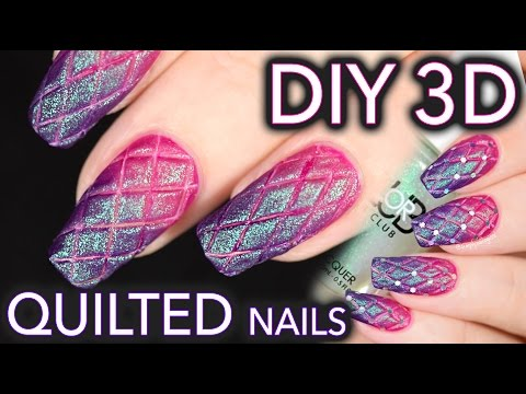 Matte quilted nails the EASY DIY WAY