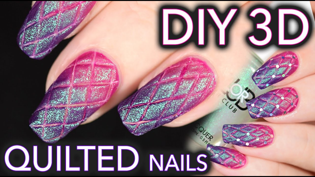 Matte quilted nails the EASY DIY WAY - YouTube