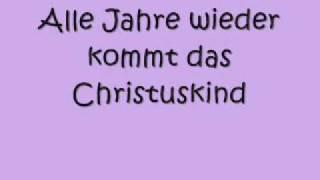 alle jahre wieder with lyrics
