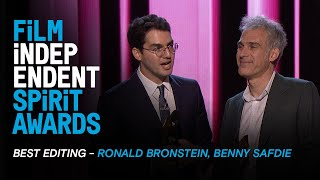 UNCUT GEMS wins BEST EDITING at the 35th Film Independent Spirit Awards