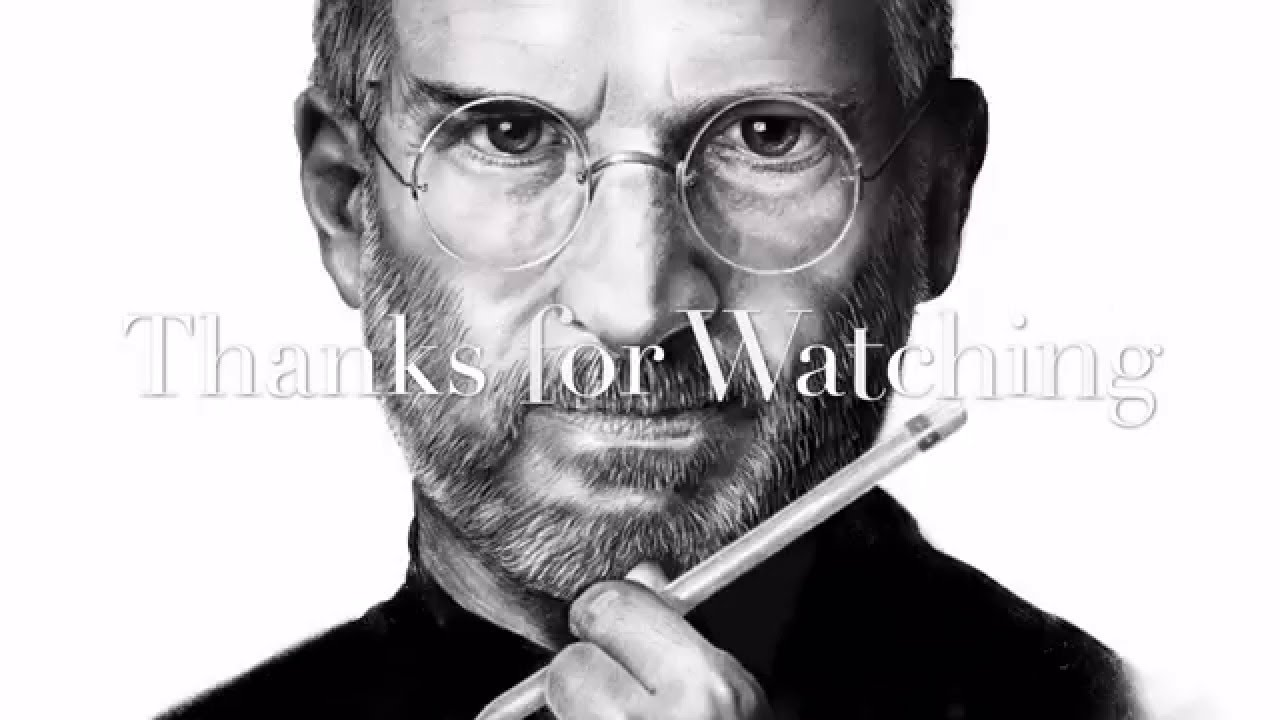 Steve jobs drawing on ipad pro using procreate and apple pencil