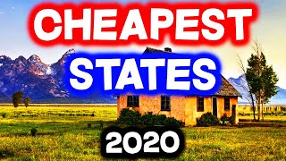 Top 10 CHEAPEST STATES to Live in America for 2020