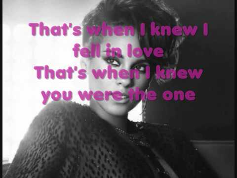 Alicia Keys - That's when I knew (LYRICS ON SCREEN)
