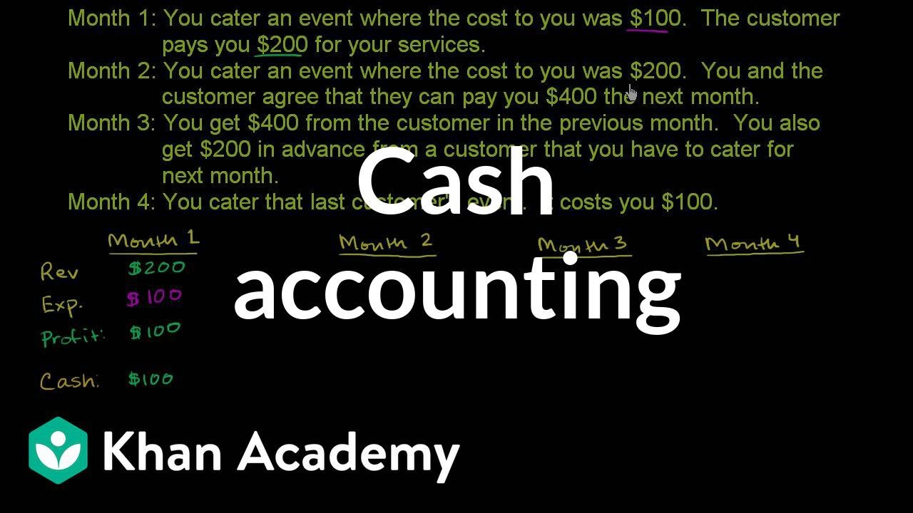 Cash accounting (video) | Khan Academy