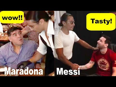 Famous Football Players Enjoying Delicious  Dishes 🍗 [Ronaldo, Messi, Maradona, , Pogba , Beckham]