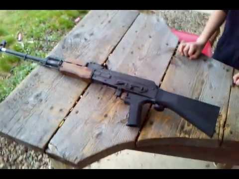 FULL AUTO AK 47??!! Slide Fire Stock AK 47 75 round drum - YouTube