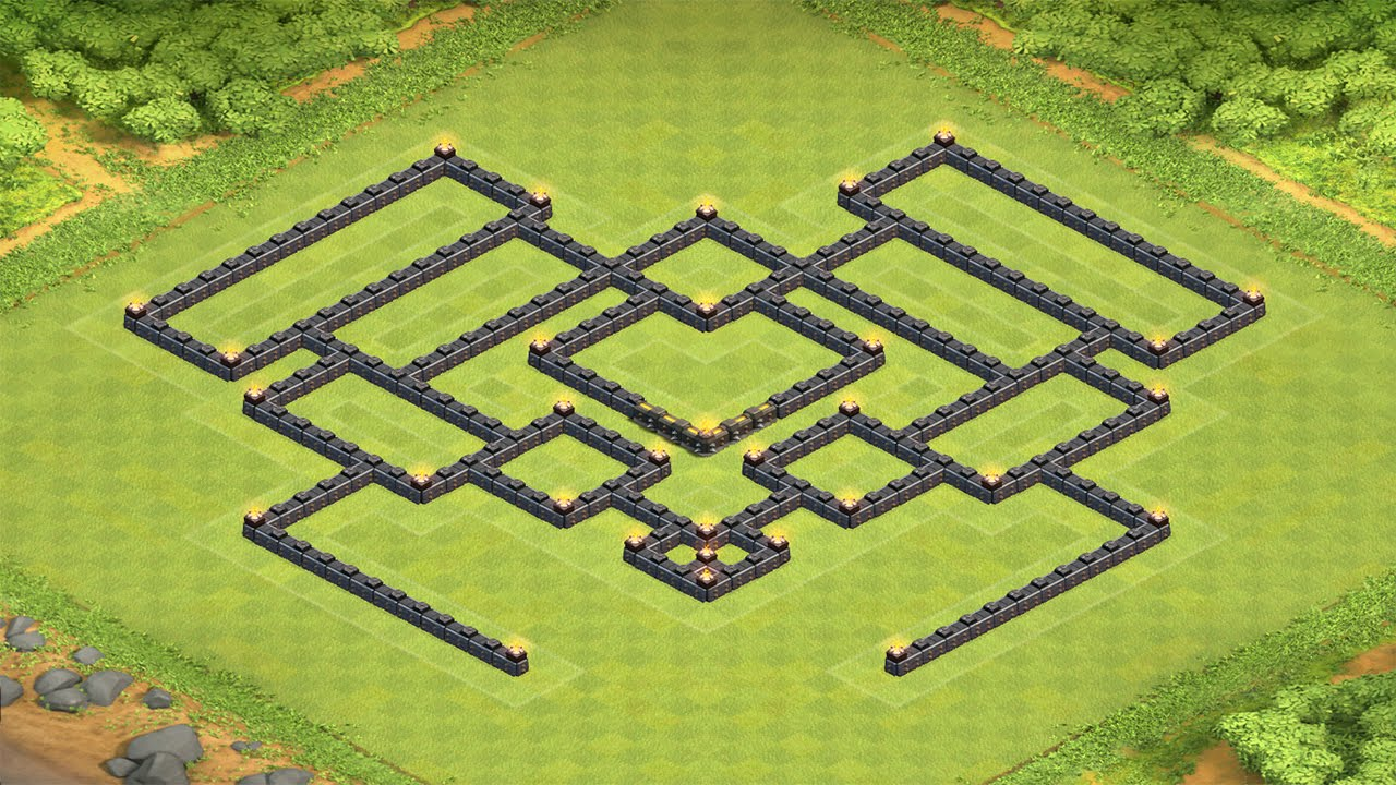 Clash of clans th9 war base with 2 air sweepers new update july