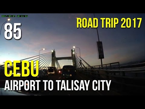 Road Trip #85 - Cebu: From Airport to Talisay City (Friday Rush Hour)