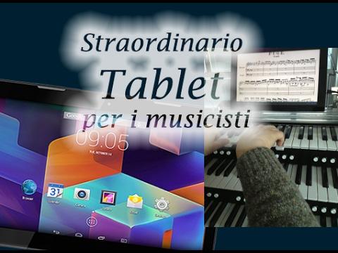 Tablet per musicisti , Leggere musica, libri , giocare con il Tablet Hannspree
