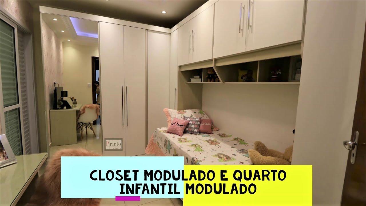 Prieto Móveis - moveis planejados closet modulado (com canto closet) e quarto infantil modulado