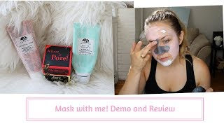 Mask with Me! Demo and Review of THREE FACE MASKS!