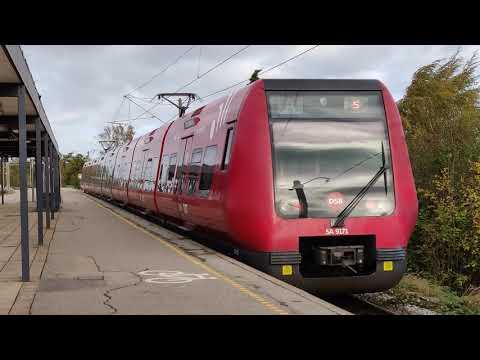 Copenhagen S-Train (S-Tog) trains calling at suburban Dyssegård Station